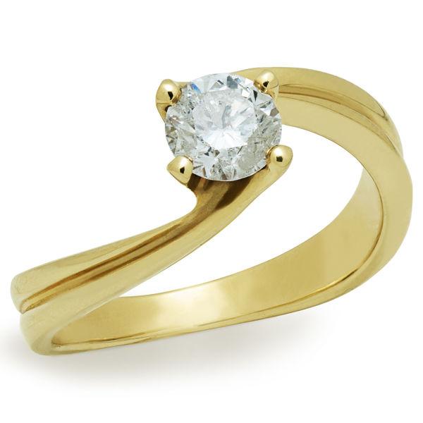 תמונה של טבעת אירוסין - סוליטר מעוצב