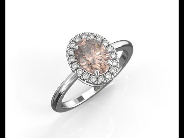 טבעת יהלומים מורגנייט