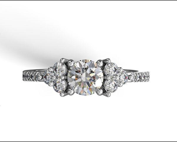 תמונה של טבעת אירוסין - שיבוץ צד