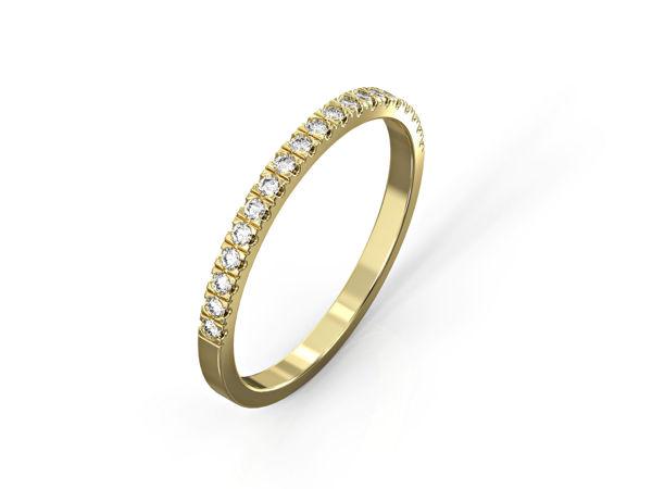 טבעת פס יהלומים